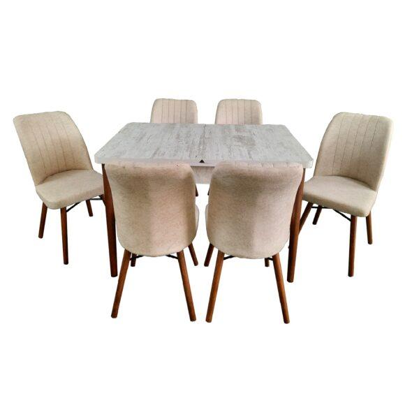 masa-aris-alb-6-scaune-kare-crem